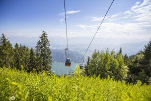 Mit der Bergbahn vom Ossiachersee auf die Gerlitzen Alpe zu den schönsten Wanderwegen in Kärnten
